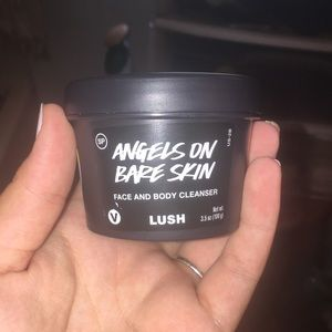 Lush Angels on Bare skin face and body cleanser